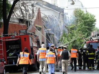El depósito de Barracas quedó totalmente destruido.