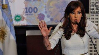 Cristina durante su discurso en la Rosada.