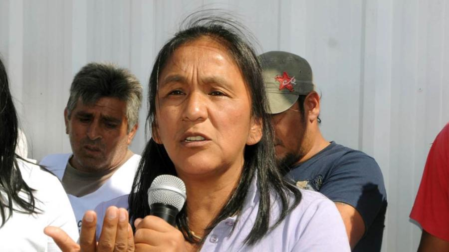 Milagro fue la única dirigente detenida en la protesta.