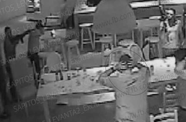Imágenes de seguridad del momento del secuestro.