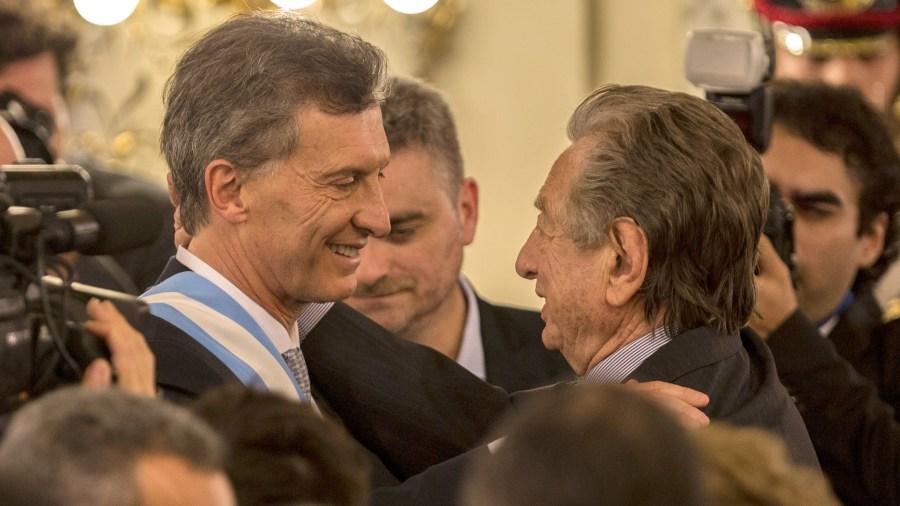 El padre y el hijo en la Casa Rosada.