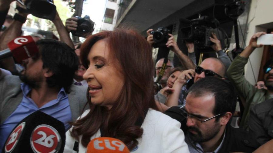 Cristina estuvo en Retiro.
