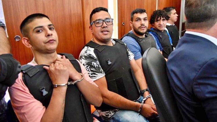Los acusados durante la primera audiencia.