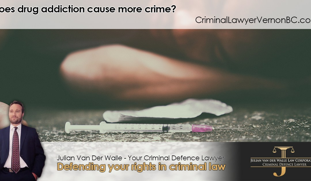Does drug addiction cause more crime?