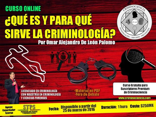 propaganda curso online que es y para que sirve la criminologia