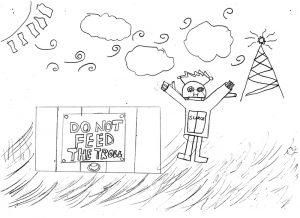 Sugar trapped Johan under the false trapdoor - by LCool - (c) Ryan Cartwright 2014 CC:By-SA