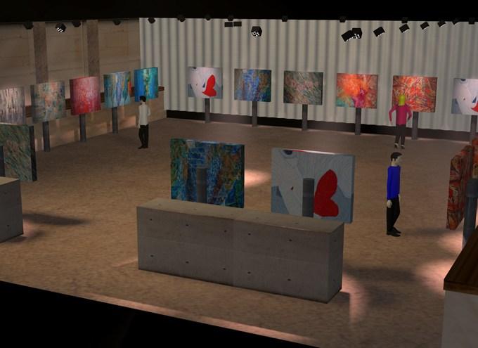 Art show pre-visualization for 415 Westlake