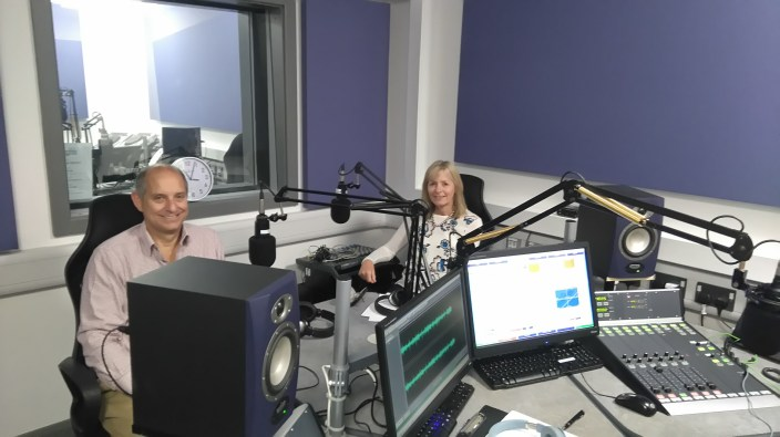 Wendy and Rob at the Express FM studio