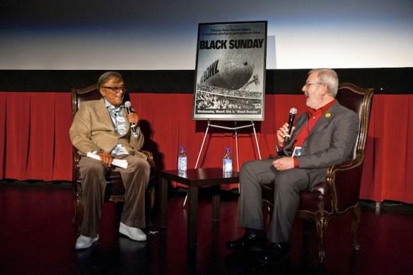 Robert Evans and Leonard Maltin. Photo by E. M. Pio Roda courtesy of TCM.