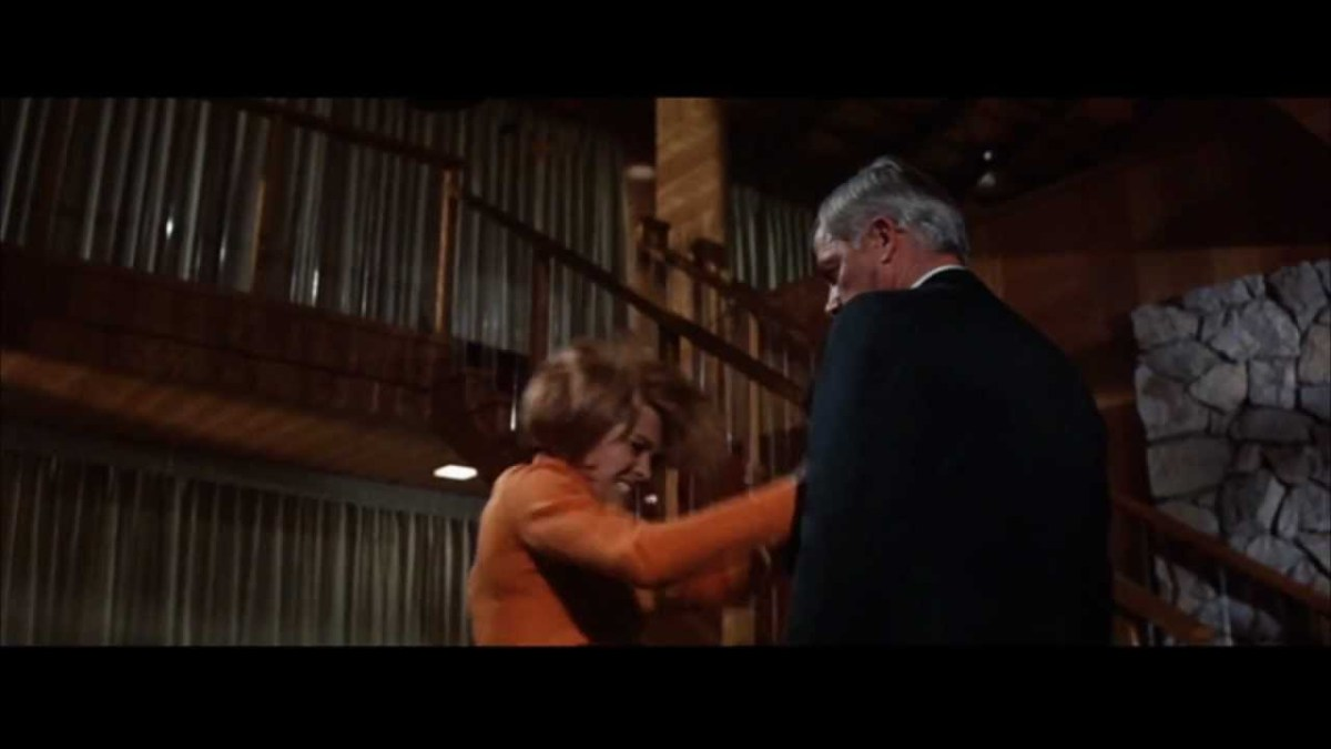 Lee Marvin and Angie Dickinson in Point Blank