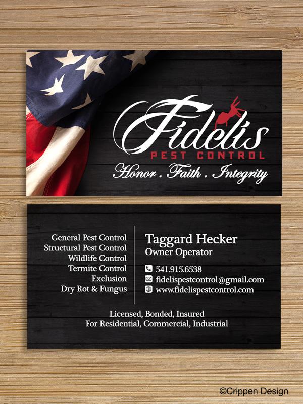 Fidelis Pest Control Crippen Design Business Cards