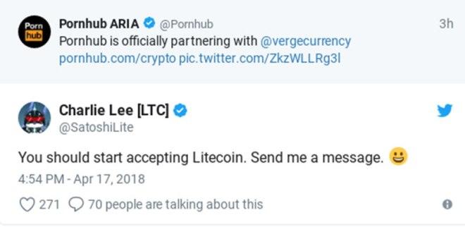 Pornhub Litecoin