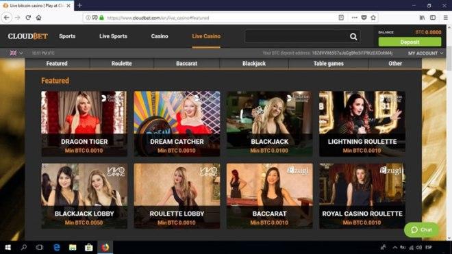 Casino CloudBet - 5 BTC