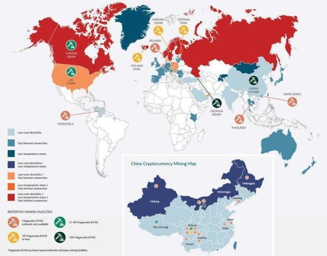 Mapa de la mineria mundial