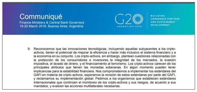 Comunicado G20 Marzo 2018