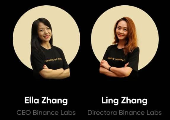 Ella y Link Zhang Binance