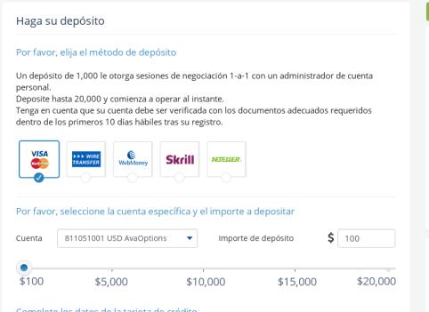 Deposito AvaTrade