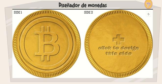 Diseñador de monedas de chocolate Bitcoins