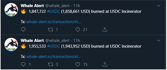 Alerta de las ballenas crypto USDC
