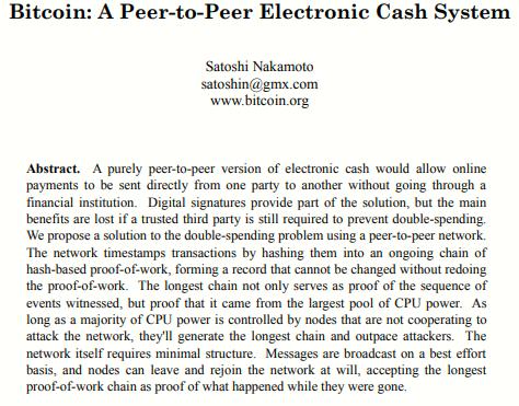 White Paper Satoshi Nakamoto. ¿Relación en Bitcoin y Halloween?