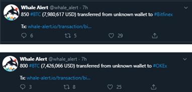 Más movimientos de las ballenas crypto en BTC