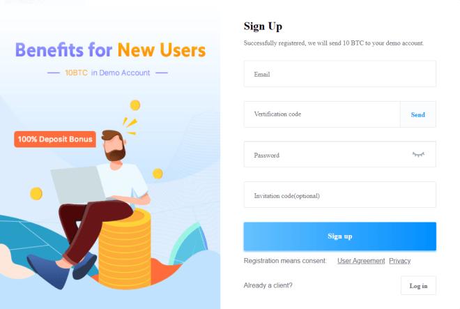 Registro de cuenta en Bexplus - Comercio de Bitcoin