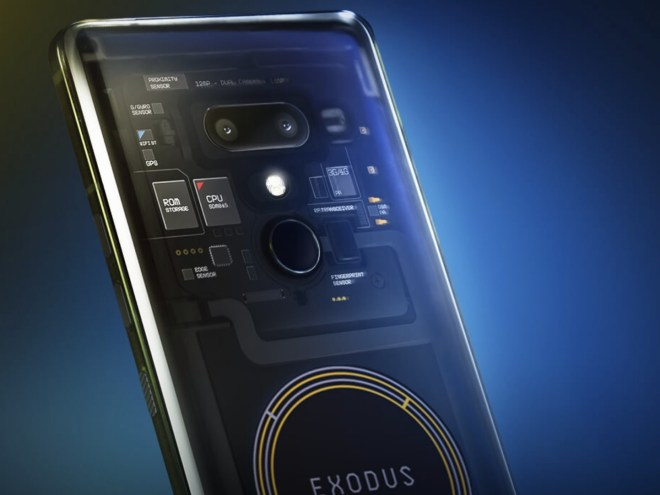 Teléfono de HTC que utiliza Blockchain