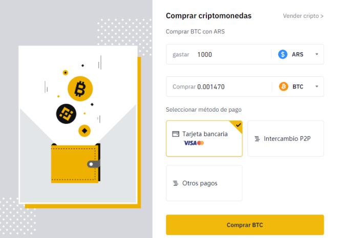 Invertir en Bitcoin desde Argentina con Binance es muy sencillo