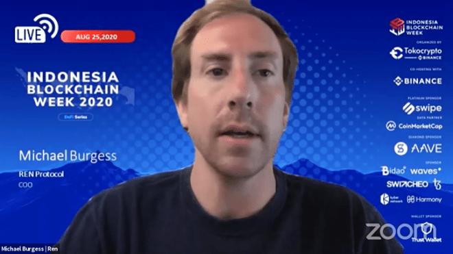 Michael Burgess explicó la principal ventaja de las exchanges descentralizadas durante la Indonesia Blockchain Week