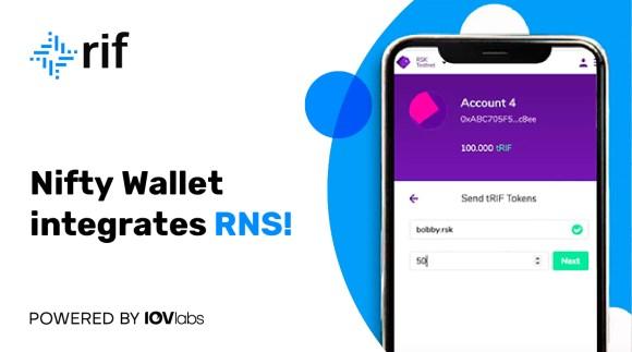 Nifty Wallet, es una de las plataformas para abrir las RNS y tener una experiencia sencilla en la Blockchain. Fuente: Developers.rsk