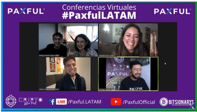 En el marco del Cripto Latin Fest 2020, los panelistas discuten sobre el futuro de Blockchain en el mundo, y el avance de la educación sobre esto en Latinoamérica. Fuente: Cripto Latin Fest