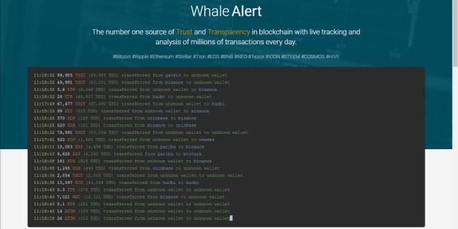 De la misma manera que Whale Alert informa de los movimientos de las ballenas cripto, Uniwhale lo hace con los grandes proveedores de liquidez en las DeFi. Fuente: Whale Alert