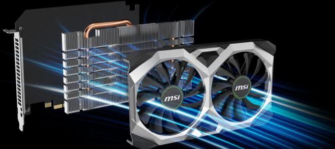 Según MSI, una de las mejores características de estas nuevas tarjetas gráficas para la minería en Ethereum es el disipador de calor de aluminio. De acuerdo con la empresa, este maximiza el área de contacto directo con la GPU y la memoria para transferir el calor de manera eficiente. Mejora la disipación de calor al guiar el flujo de aire a la PCB a través de las secciones del disipador de calor. Fuente: MSI