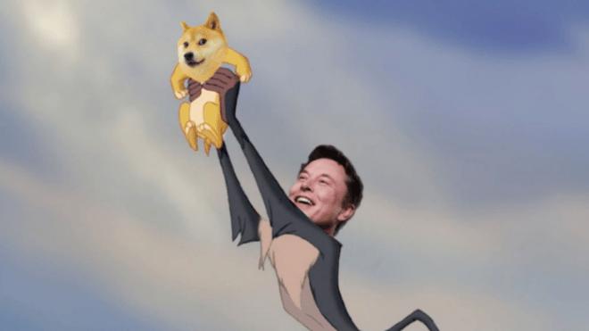 Invertir en una criptomoneda como Dogecoin, cuyo precio depende de este tipo de publicaciones de Elon Musk, es algo más que un gran riesgo. Fuente: Twitter