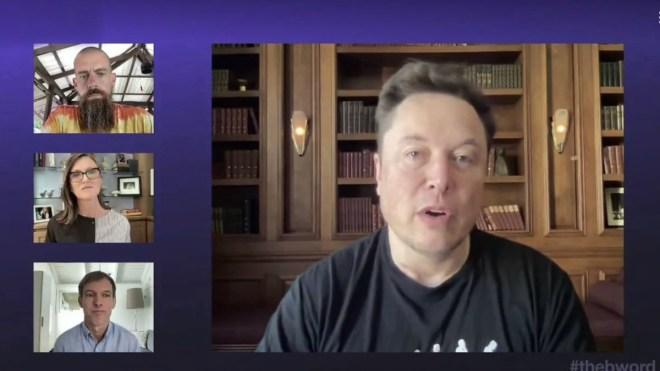 Durante el evento The B Word, el CEO de Tesla, Elon Musk, aseguró que la minería de Bitcoin podría estar en lo que podría denominarse un estado aceptable en cuanto a uso de energía renovable. Fuente: Captura de pantalla a The B Word