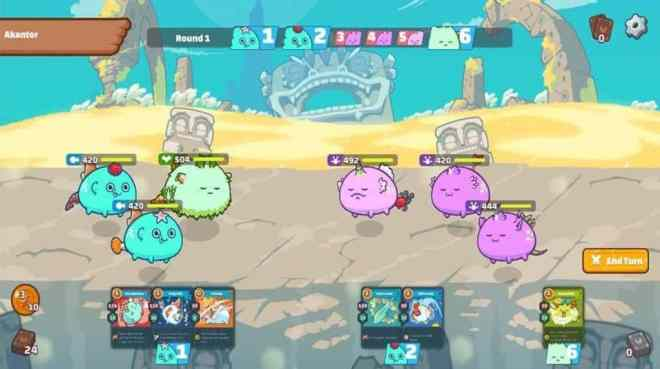 Juego NFT Axie Infinity. Fuente: Axie Infinity
