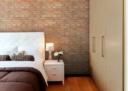Decoración de paredes con imitación a ladrillo