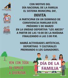 5 de Marzo, Día Nacional de La Familia