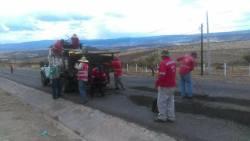 Bacheo de acceso a Nochistlán y el libramiento