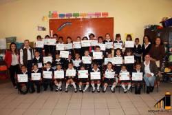 Alumnos de preescolar terminan taller de computación