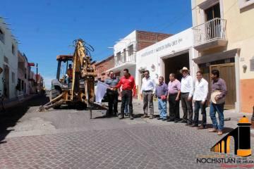 Rehabilitación de dos cuadras de la calle Juárez