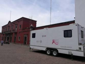 Camión de mastografías en Nochistlán
