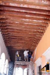 Avances de la obra del Parían y de la calle Juárez