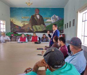 Reunión con productores agrícolas y ganaderos