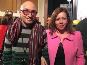Cristina con el actor Jesús Vidal