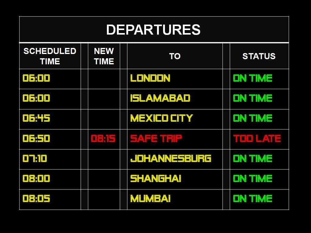 Safe Trip?