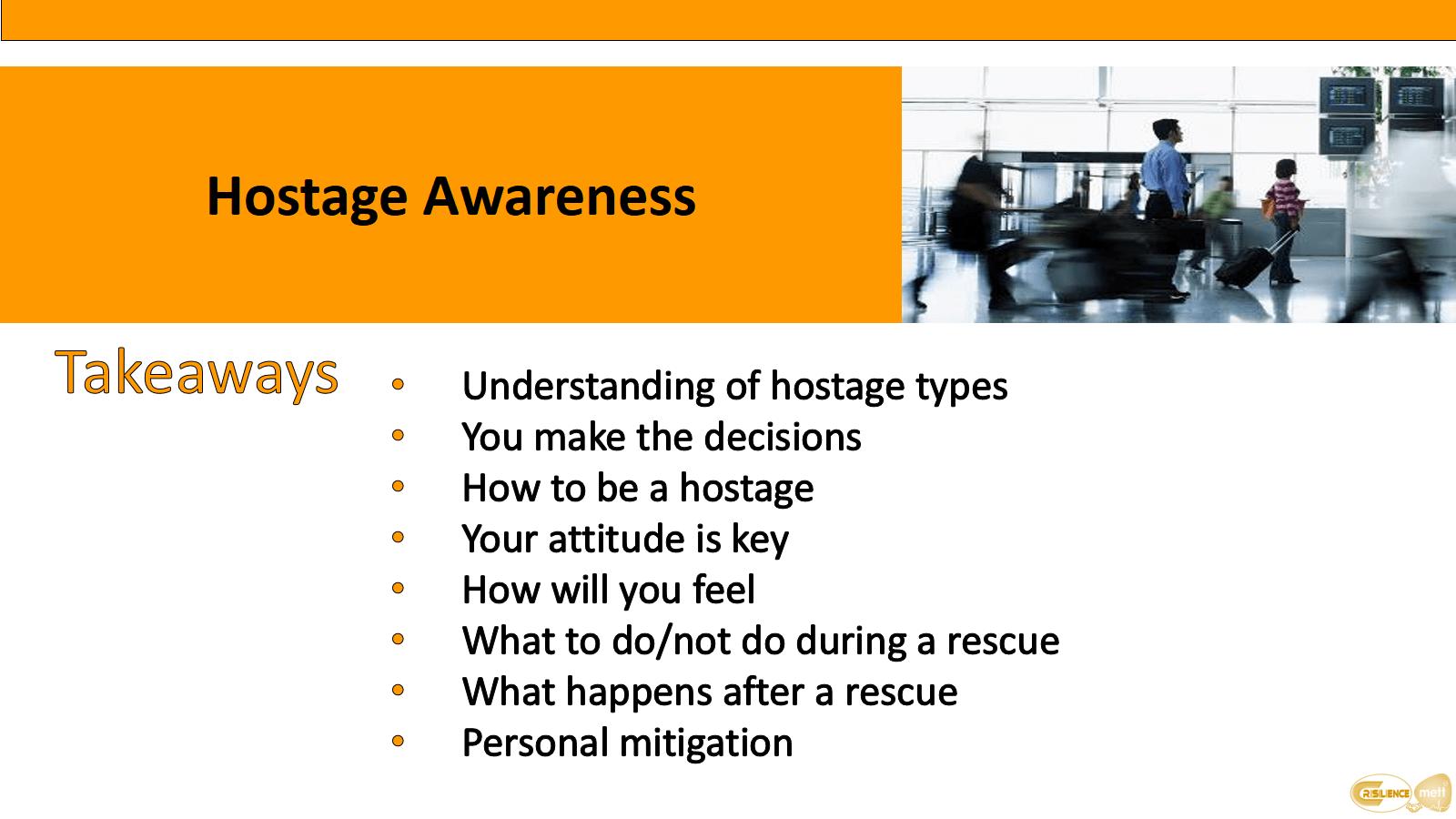 CIMAT slide 13 Hostage awareness takeaways