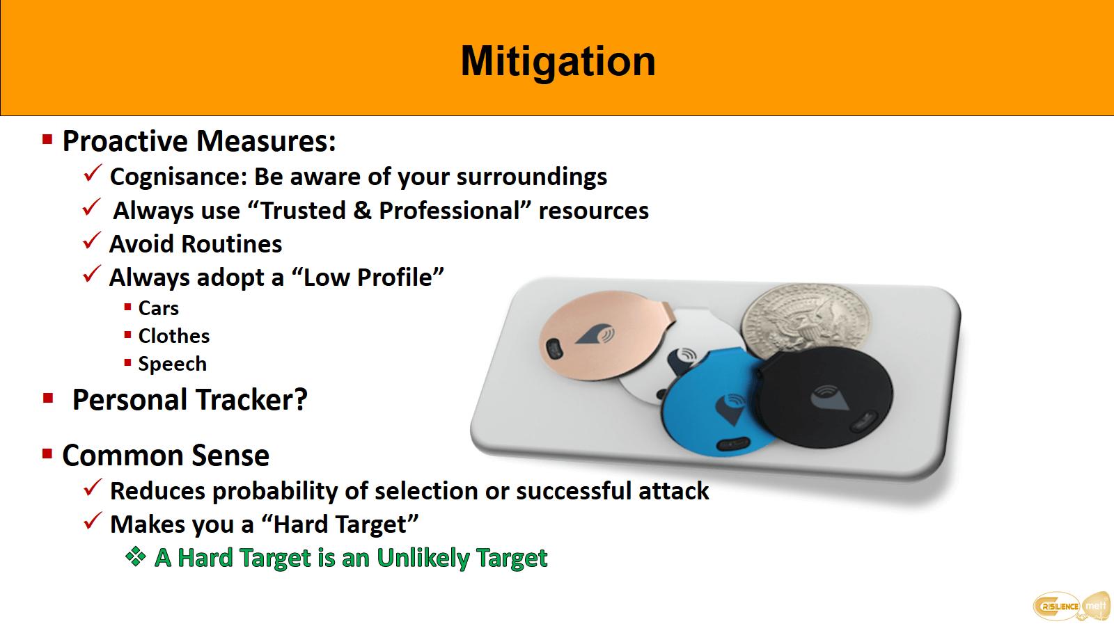 CIMAT slide 17 Hostage awareness Mitigation