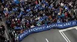 Βαρκελώνη: Υπέρ της (καθυστερημένης) υποδοχής προσφύγων διαδηλώνουν οι Ισπανοί