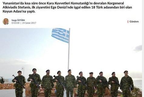 Νέο επεισόδιο στον εικονικό πόλεμο στο Αιγαίο γράφουν οι Τούρκοι με τις Οινούσσες